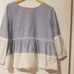 Gorgeous  blue broderie blouse